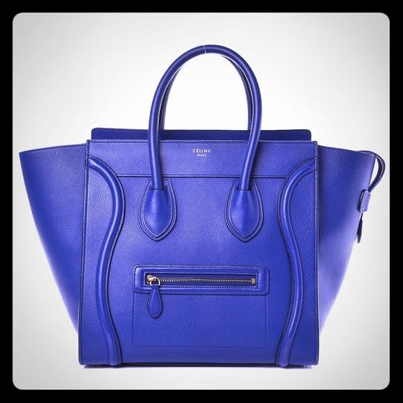 fa65f6105461 Celine Handbags - Celine nano luggage tote bag  blue